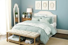 Spa blue on Colette French Knot Bedding