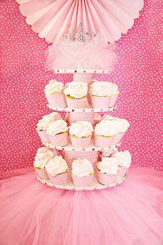Ballerina cupcake display