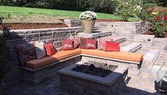 stiars, firepit, seating, Back Yards, Terrace/Sloping Yard