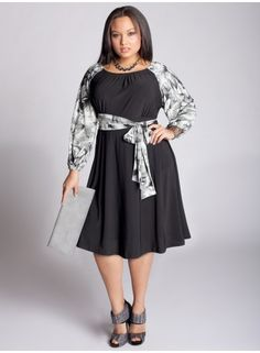 Looks comfy and classy. Like. Florica Dress in Black by IGIGI
