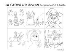 How the Grinch Stole Christmas- Cut & Paste Sequencing Activity!