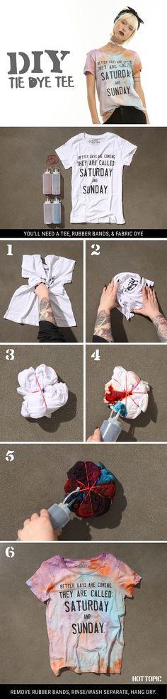 To dye for // DIY Tie Dye Tee