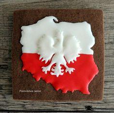 #7 Poland - Map and Flag - by Piernikowe Serca