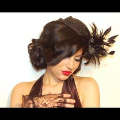Old Hollywood hair and makeup, vintage glam updo, cred to Houda Bazzi!