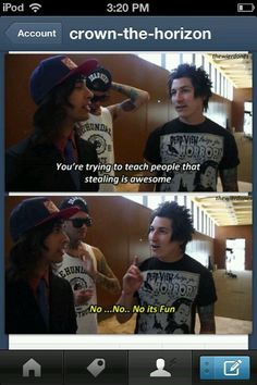 Pierce The Veil. Jaime gets it