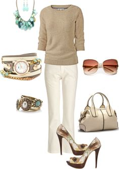 """work outfit"" by kaybraden on Polyvore -- love it. Women who wear it look so humble and lika a smart. I'd like to wear something like this someday (hahaha am a student)"