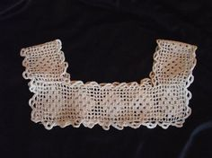 Vintage Crocheted Girls Dress Yoke by AnneMariesAttic on Etsy, $12.00