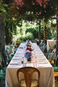 Garden party style wedding