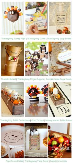 A Collection of #Thanksgiving Projects with full photo tutorials | theidearoom.net