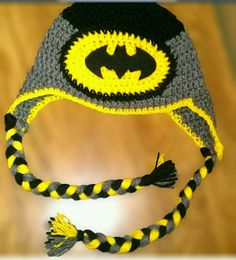 Batman inspired Crochet hat by CrochetByBrito on Etsy