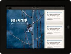 National Parks by National Geographic for iPad by Rally Interactive, via Behance