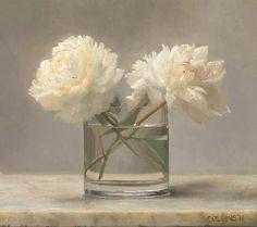 jacob collins | Jacob Collins, White Peonies, 16x18