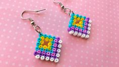 Colorful Pixel Earrings Multi-Colored Diamond di 8BitEarrings
