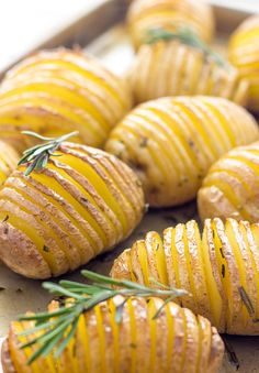You've got to try these Lightened Up Hasselback Potatoes! They are cute looking, super flavorful, crispy and absolutely delicious.