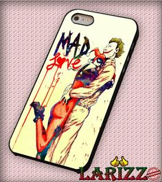 """harley quinn joker mad love couple for iPhone 4/4s, iPhone 5/5S/5C/6/6 , Samsung S3/S4/S5, Samsung Note 3/4 Case """"007"""""""