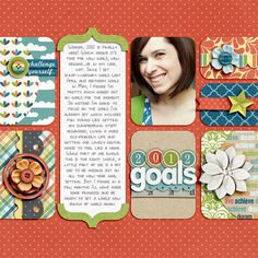 #papercraft #scrapbook #layout  personal page idea using PL cards