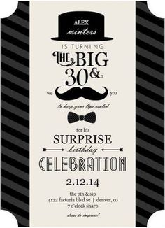 surprise 30th birthday party ideas for men - Google Search