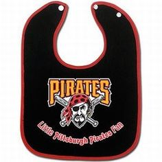 Pittsburgh Pirates Baby Bib - Two-Toned Snap