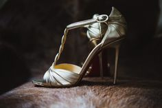 Christian Louboutin Gold Shoes Bride Bridal Very Casual Country Barn Wedding http://amybphotography.co.uk/