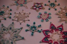 More German perlensterne ornaments for beading inspiration.