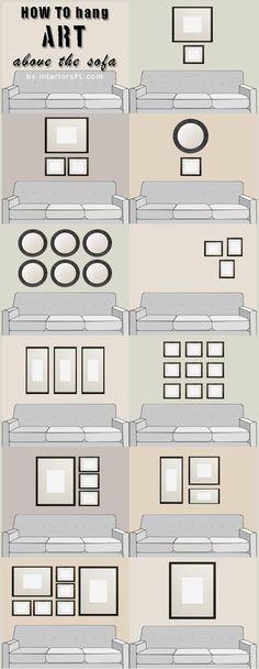 Miguel García González: Como colgar arte sobre mi sofá: #Ideas#Decoración