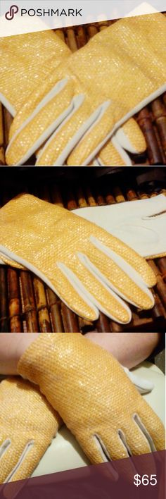 Lilly Dache two-tone gloves sz small Vintage Lilly dache two tone gloves size small Prime condition original sleeve rare one-of-a-kind beautiful pictures do not do these babies Justice only if I didn't have large Man Hands LOL Lilly dache Accessories Gloves & Mittens