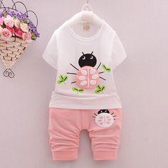 $18.50 (Buy here: https://alitems.com/g/1e8d114494ebda23ff8b16525dc3e8/?i=5&ulp=https%3A%2F%2Fwww.aliexpress.com%2Fitem%2FGirls-Clothing-Sets-Summer-Kids-Clothes-Girls-Beetle-Cartoon-T-Shirt-Capri-Pants-Suit-Toddler-Girl%2F32697546913.html ) Girls Clothing Sets Summer Kids Clothes Girls Beetle Cartoon T-Shirt + Capri Pants Suit Toddler Girl Clothing Vestido Infantil for just $18.50