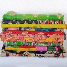 Wholesale Lot of 5 Vintage Throws Kantha Quilts Indian Cotton Bedspread Bedding #VintageHandmade #KanthaAsianCottageTraditionalTropical