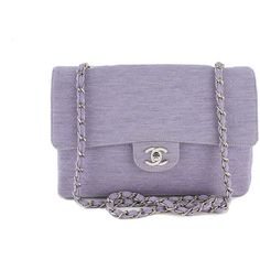 Chanel Lavender Quilted Classic 2.55 Shoulder Flap Bag features sleek silhouette, single long woven classic Chanel chain that is attached at the base of the ba…