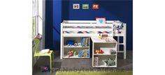 zeichnen PINO Lit mezzanine + bureau + bibliothèque blancYou can find Mezzanine and more on our website. Bookcase, Ikea, Police, Shelves, Bedroom, Furniture, Home Decor, Revanche, Lattes