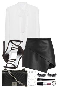 """Sem título #331"" by mika-3 ❤ liked on Polyvore featuring Diane Von Furstenberg, Michelle Mason, Chanel, Stuart Weitzman, Accessorize, M.A.C, Lord & Berry and MAC Cosmetics"