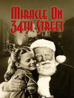 Miracle on Street (in the United Kingdom first released as The Big Heart) is a 1947 Christmas film written and directed by George Seaton and based on a story by Valentine Davies. It stars Maureen O'Hara, John Payne,Natalie Wood and Edmund Gwenn. Family Christmas Movies, Classic Christmas Movies, Holiday Movies, Xmas Movies, Christmas Time, Vintage Christmas, Christmas Classics, Christmas Specials, Father Christmas