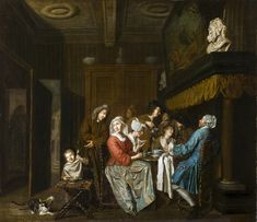 Thee drinken - Jan Jozef Horemans II - 1750