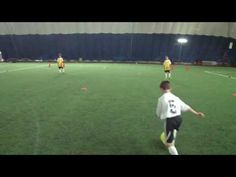 Great U8 Soccer Drills. Well structured youth training session, with several variations and progressions of 1v1, 1v2 and 3v2.