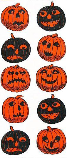 Halloween jack o'lantern stickers