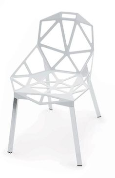 """Triangle faceted metallic seat – """"Chair One"""" for Magis by Konstantin Grcic 2004"""