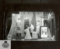 Celanese fabrics window display, 1930s.