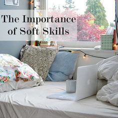 The importance of soft skills. working at home, with a coffee