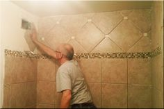 Remodel Bathroom Tile. Like the two different tile directions.