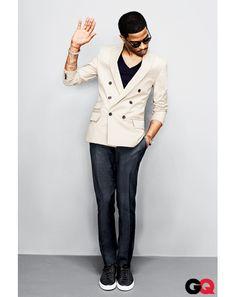 Kid Cudi looking dapper. Star Fashion, Look Fashion, Spring Fashion, Street Fashion, What To Wear Today, How To Wear, Modern Mens Fashion, Kid Cudi, Looking Dapper