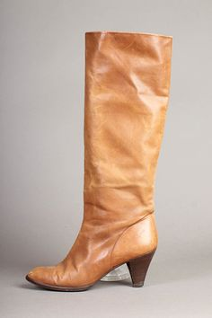 """vintage CARMEL boho KNEE HIGH leather brown boot by LuxieVintage -- I had a pair just like this in the 70""""s...wore them out"""