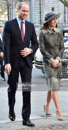 Britain's Prince William, Duke of Cambridge (L), his wife Britain's Catherine, Duchess of Cambridge, arrive to attend a Commonwealth Service at Westminster Abbey in central London on March 14, 2016.Queen Elizabeth II has been Head of the Commonwealth throughout her 60 year reign. Organised by the Royal Commonwealth Society, the Service is the largest annual inter-faith gathering in the United Kingdom. / AFP / LEON NEAL (Photo credit should read LEON NEAL/AFP/Getty Images)