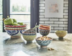 Our Japanese inspired bowls are perfect for holding fresh food. Contrasting colours work well and stand out for a beautiful display.