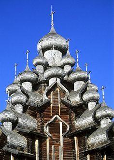 The Church of the Transfiguration - Kizhi Pogost, Lake Onega in the Republic of Karelia, Russia