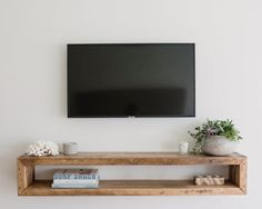 Your place to buy and sell all things handmade Wall unitwall cabinettv consolemedia unitmedia Living Room Tv, Home And Living, Tv On Wall Ideas Living Room, Tv On The Wall Ideas, Tv Wall Cabinets, Tv Wall Shelves, Tv Shelving, Tv Stand Shelves, Tv Wanddekor