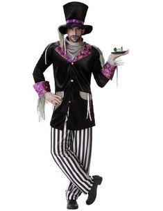 Disfraz de Sombrerero Zombie para Hombre | Comprar Online