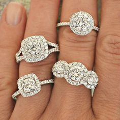 At Tara Fine Jewelry Company, we pride ourselves in quality Diamond Engagement Rings that cannot be found anywhere else! #engagementrings #diamondhalorings #luxurydiamondrings