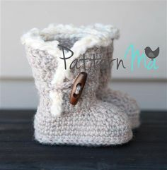 Crochet Baby Boots Pattern 3 by PatternMa on Etsy