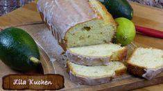 Avocado-Zitronenkuchen mit Guß - Rezept von Lila Kuchen Butter, Cornbread, Dairy, Cheese, Ethnic Recipes, Food, Youtube, Purple Cakes, Yummy Cakes