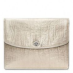 """Coach : Legacy Metallic Leather iPad Clutch. Just HAPPEN own this sweet little number in """"champagne"""" color (and a few matching pieces!)"""